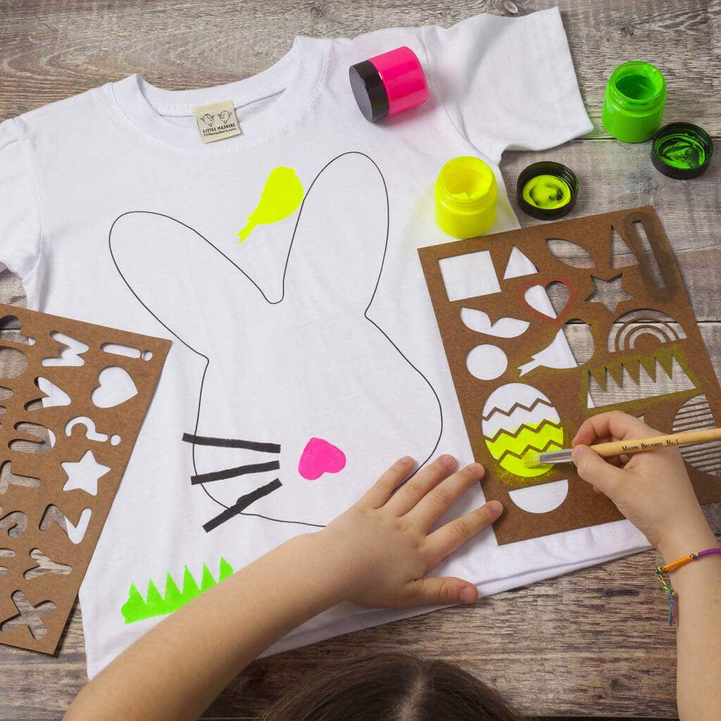 EASTER BUNNY CREATIVITY T-SHIRT KIT, Little Mashers Easter T-shirt, non-chocolate gifts for kids, Easter non-chocolate gifts, kids easter gift, Non-chocolate Easter gifts, personalised easter gifts for children