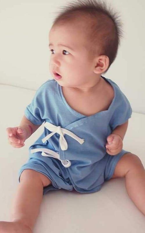 Free kimono baby onesie pattern, Bluprint free baby sewing pattern, baby onesie pattern, Bluprint baby sewing pattern, Bluprint onesie pattern