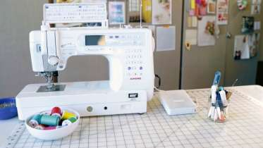 Sewing machine basics, online sewing class, beginner learn to sew online course