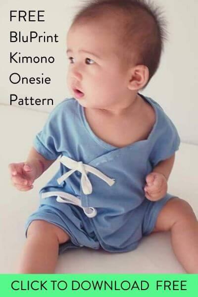 Free baby onesie sewing pattern, baby onesie pattern, free printable baby onesie pattern, baby bodysuit pattern