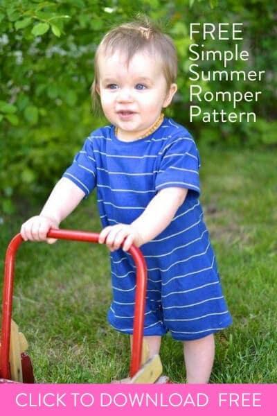 free simple baby romper sewing pattern, free baby romper pattern, baby romper pattern free, free baby romper sewing pattern