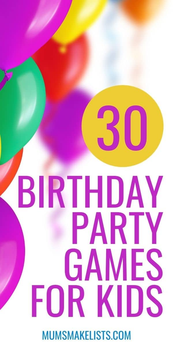 Children's party games, party games for toddlers, fun party games for preschoolers, easy party games for ten-year-olds, cool party games for kids, non-competitive party games, best kids party games list