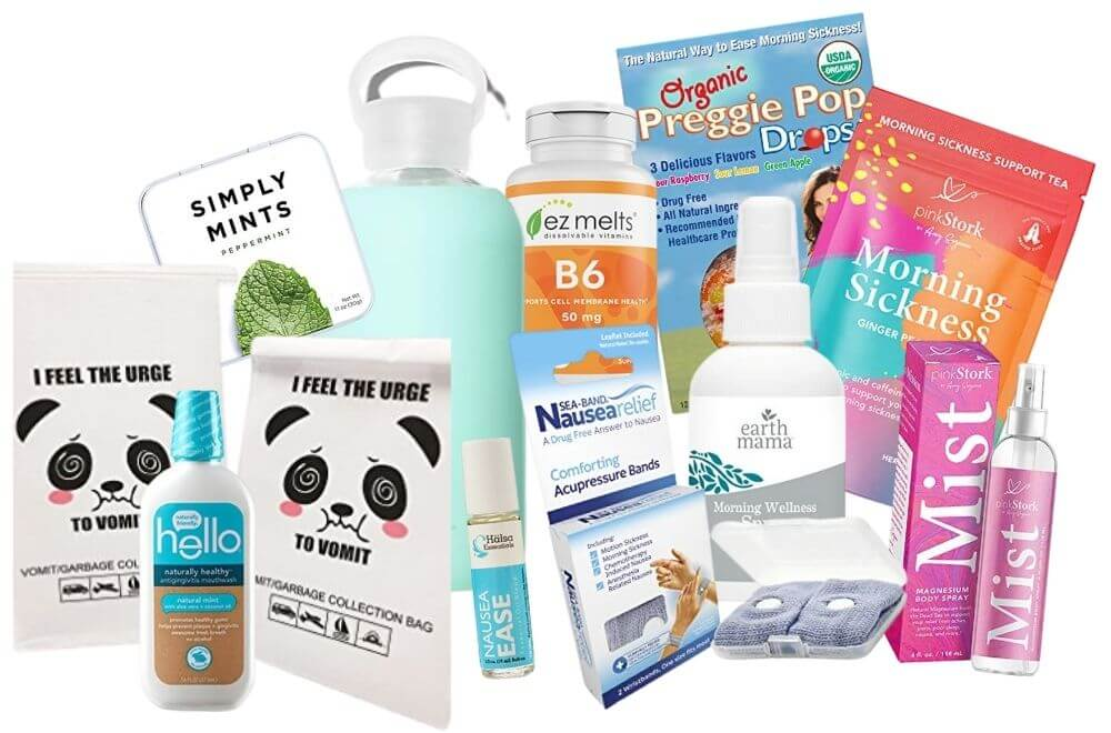 Morning sickness care package, what to put in a morning sickness care package, gift for friend with morning sickness, pregnancy nausea relief care package, how can I help my friend with morning sickness
