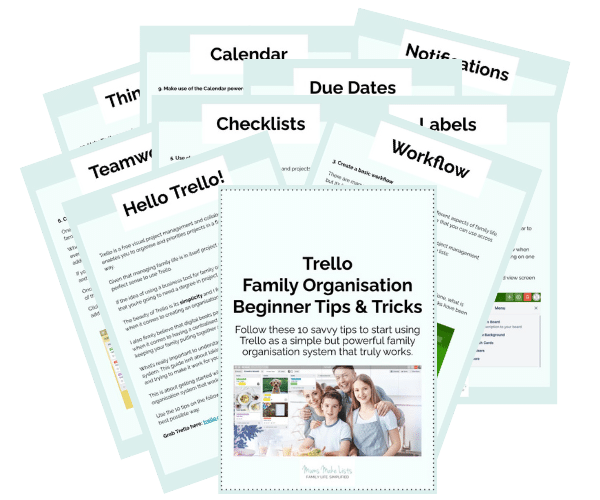 Trello family organisation, how to use Trello for family organisation, Trello tips
