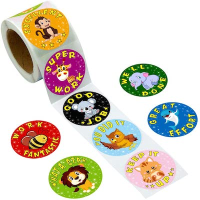 Cute kids reward stickers for prizes and rewards at kids birthday parties, kids party games, toddler party games, best games for toddler party