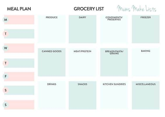 FREE printable grocery list and meal planner, free printable shopping list and meal planner, free PDF FREE printable grocery list and meal planner template, free printable shopping list and meal planner, shopping list template, grocery shopping list template, food list template, basic shopping list template