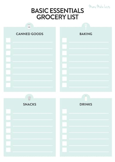 master grocery list, simple grocery list, master grocery list template, blank master grocery list template, master food grocery list, free printable master grocery list