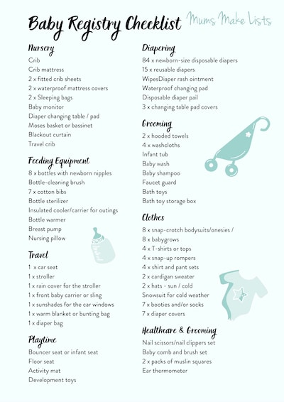 BABY registry checklist, Ultimate baby registry checklist, baby registry checklist printable, PDF baby registry checklist, the best baby registry checklist, This is a printable baby registry checklist PDF that you can download for free and print to use to check all the baby items and baby stuff you need to buy for your newborn baby. The checklist comes in blue, pink, green and yellow.