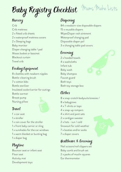 BABY REGISTRY CHECKLIST,  BABY REGISTRY CHECKLIST PRINTABLE PDF, Ultimate baby registry checklist, baby registry checklist printable, PDF baby registry checklist, the best baby registry checklist, GREEN BABY REGISTRY CHECKLIST PRINTABLE