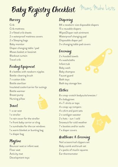 Baby registry checklist, Ultimate baby registry checklist, baby registry checklist printable, PDF baby registry checklist, the best baby registry checklist