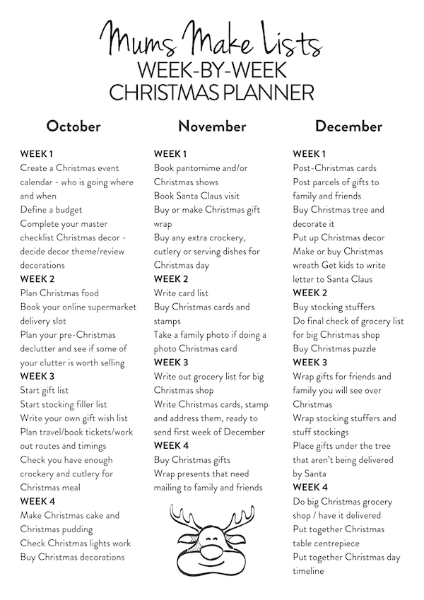 Week by week Christmas planner, printable Christmas planner PDF, christmas planning checklist christmas checklist printable Christmas checklist template, Christmas checklist, Christmas planner, Christmas planner printables, Christmas preparation checklist, Christmas planning list, Christmas to do list printable, Christmas planning checklist