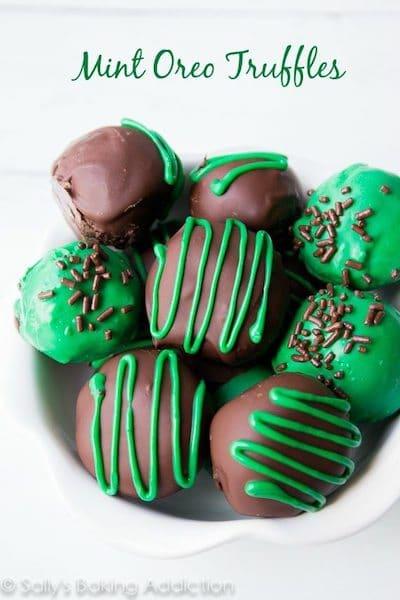 homemade christmas chocolates, MINT OREO TRUFFLES RECIPE, Christmas chocolate and sweets, christmas chocolates recipes