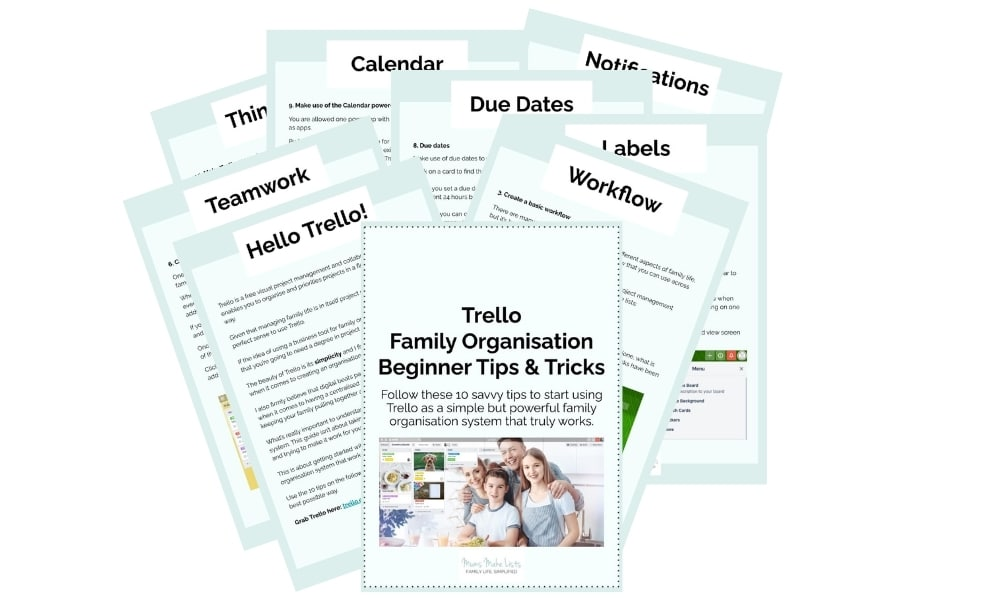 Quick start beginner guide to Trello, free PDF Guide: Trello Family Organisation Beginner Tips and Tricks