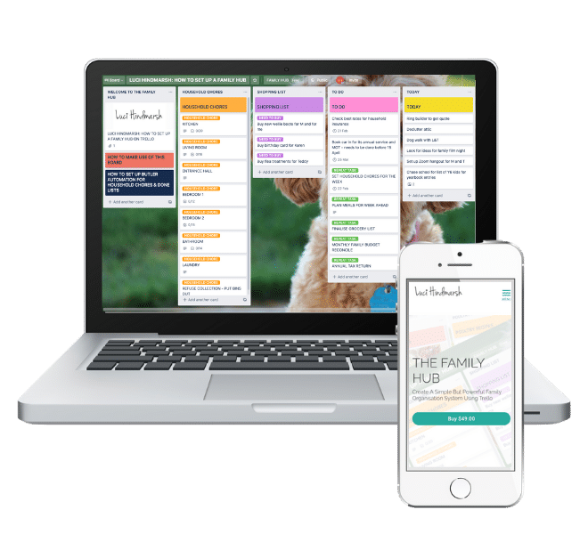 Trello Family organisation Hub course Luci Hindmarsh Mums Make Lists
