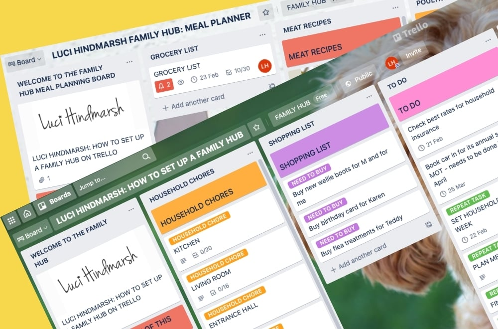 TRELLO FAMILY HUB, FAMILY ORGANISER, HOW TO USE TRELLO FOR FAMILY ORGANISATION