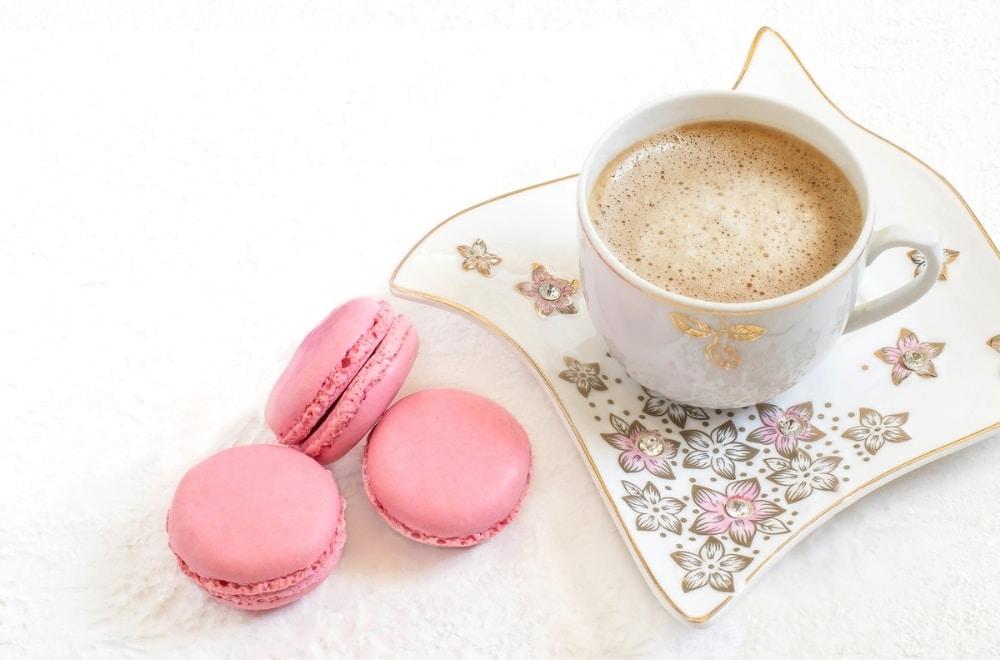 me time make time for yourself coffee and macarons