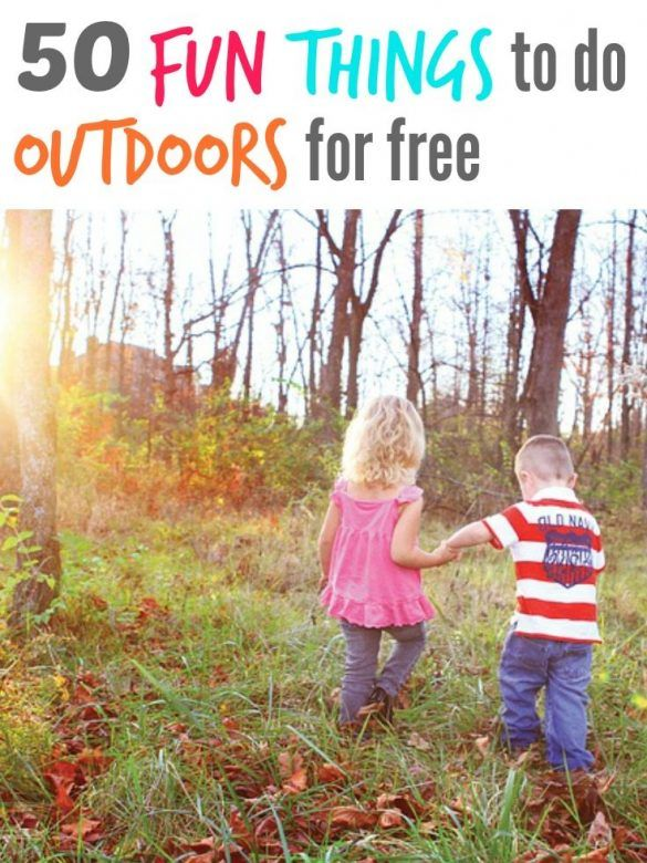 50 Free Outdoor Activities For Kids Mums Make Lists