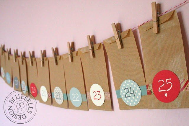 Washi tape advent calendar, homemade advent calendar