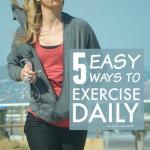 Build exercise into daily life