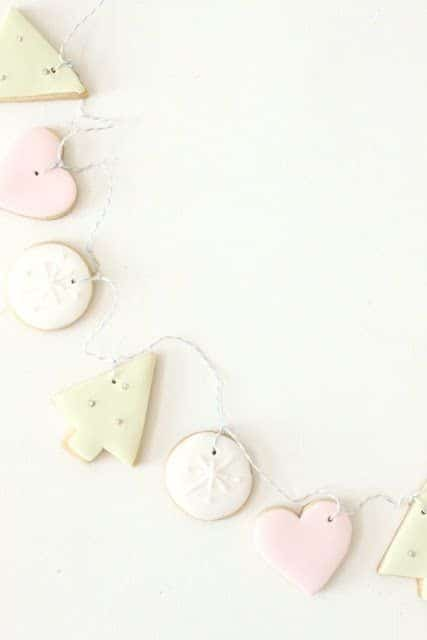 Christmas decorations - homemade cookie garland