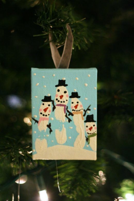 Christmas decorations - lovely snowman print Christmas ornaments that children can make
