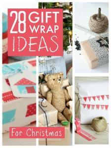 Christmas gift wrap ideas ... 28 lovely ideas for Christmas gift wrap