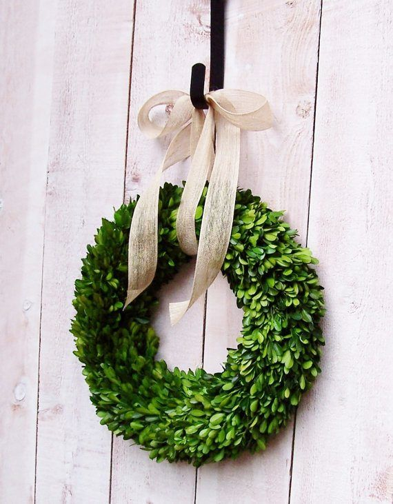 Christmas wreath - beautiful boxwood Christmas wreath