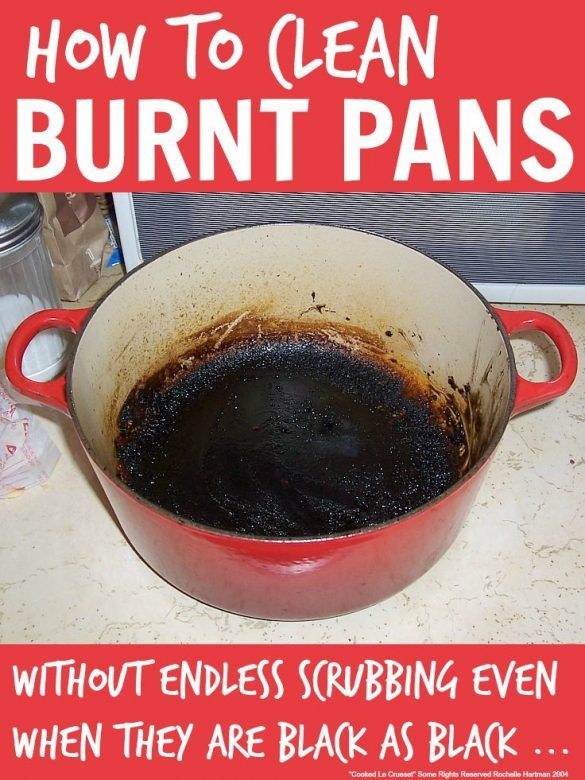 how to clean burnt pans, how to clean baked on grease from pans