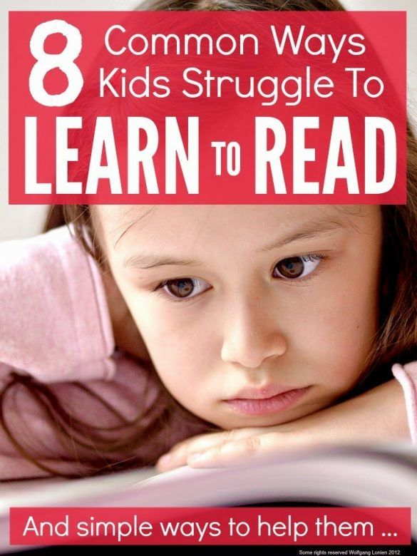 Ideas for parents to help struggling readers learn to read. Here are eight of the most common issues young children have when they are learning to read, along with simple tips on how to help them overcome the issues. #reading #learningisfun #learning #education #learnenglish #parenthack #parenting #parenting101 #parentingtips #strugglingtoread #learntoread