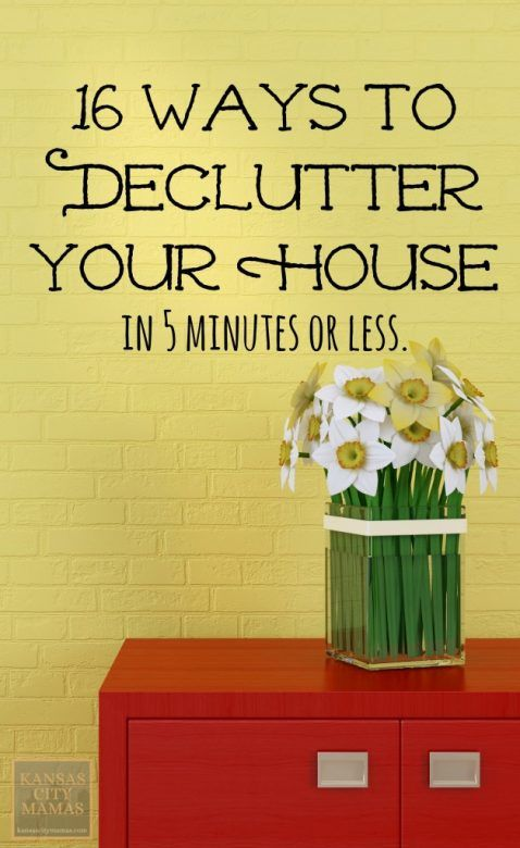 Best declutter tips ever - Five easy cleaning tips get some time for yourself ...