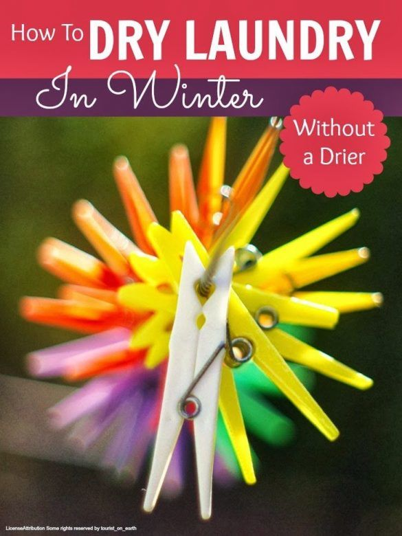 Drying laundry - how to get laundry dry in winter without a drier