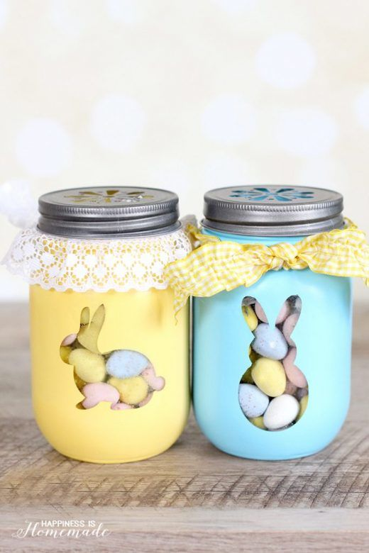 Easter bunny ... lovely Easter bunny jars you can make with or for the kids