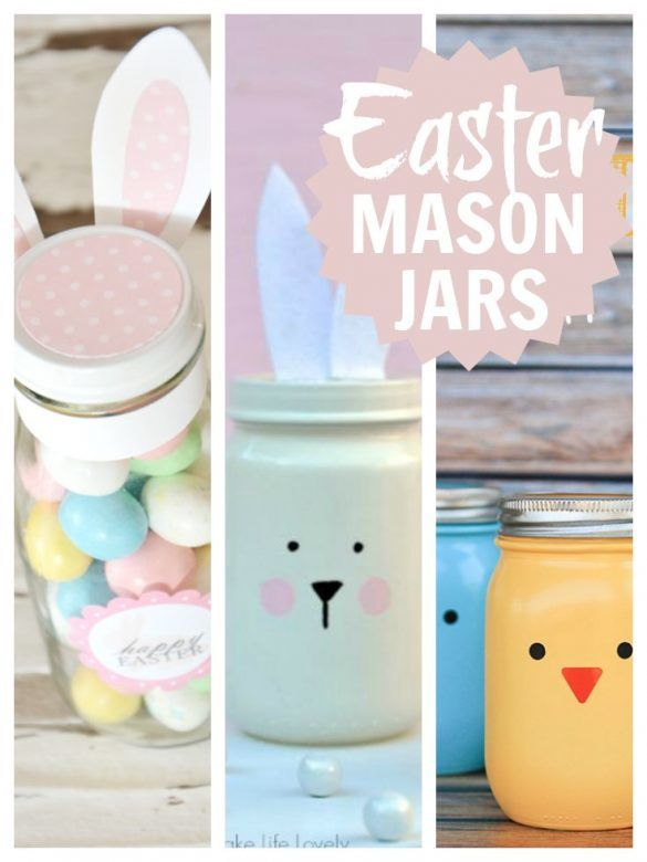 Mason jar easter gift ideas mums make lists easter mason jars lovely simple ideas for easter mason jars that you can negle Image collections