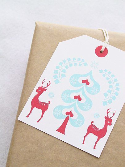 Christmas gift tags ... lovely Christmas gift tags you can make yourself with free printable