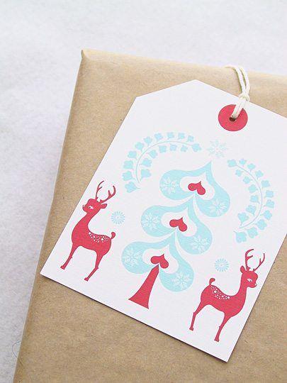 Christmas gift tags ... lovely Christmas gift tags you can make yourself with free printable