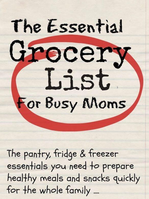 Grocery list - essential grocery list that helps you cut down on over stocking and saves money