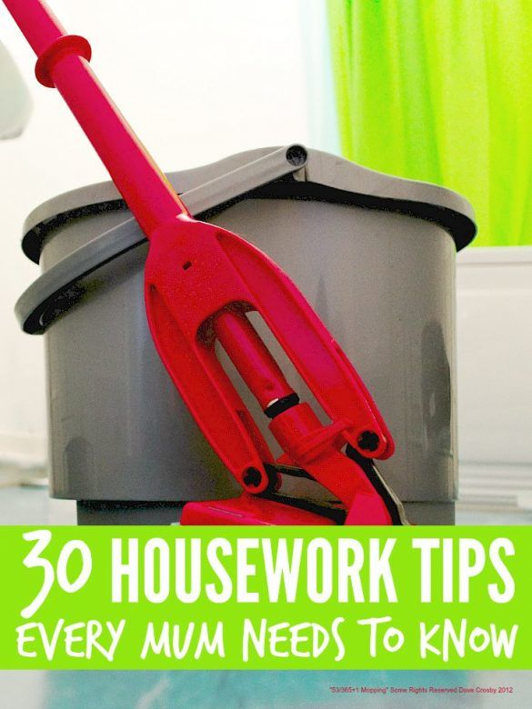 Essential Housework Tips, cleaning tips, housework chores list