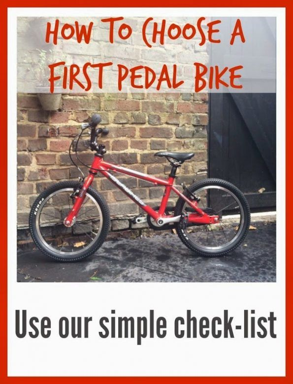 982695212ec How to choose a first pedal bike for your child to learn to ride a bike