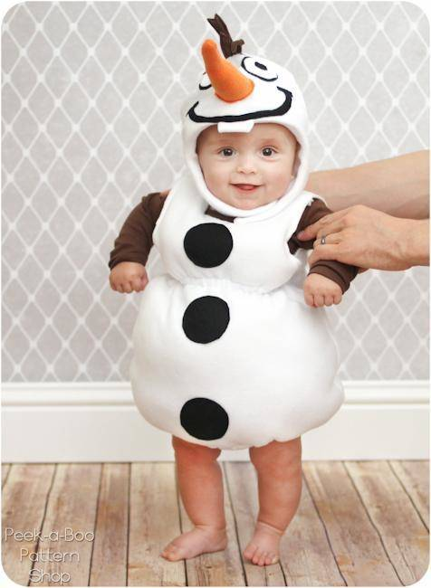 Free pattern for Frozen inspired Olaf costume