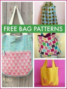 Free bag patterns - a beautiful collection of free patterns for making gorgeous totes, purses, satchels and clutches and more that are super simple to sew