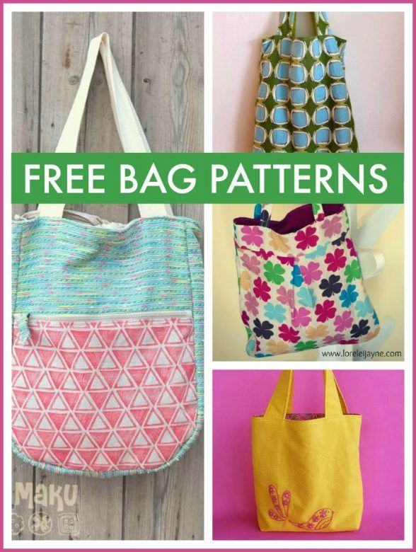 Free bag patterns - a beautiful collection of free patterns for making ...