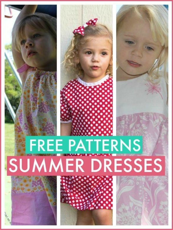 Free patterns girls dresses