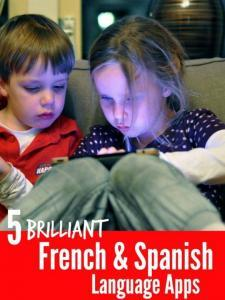 French and Spanish language Apps for kids, great Apps for helping kids learn french and spanish, preschooler language Apps