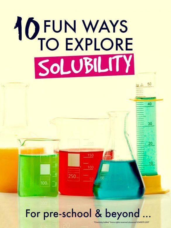 Fun science experiments for kids to explore solubility