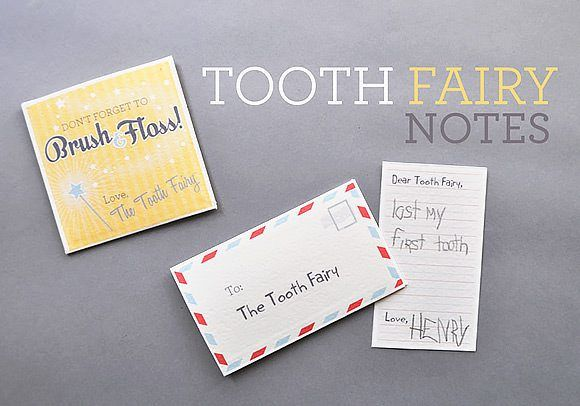 Handmade Charlotte Free Tooth Fairy Notes Printable