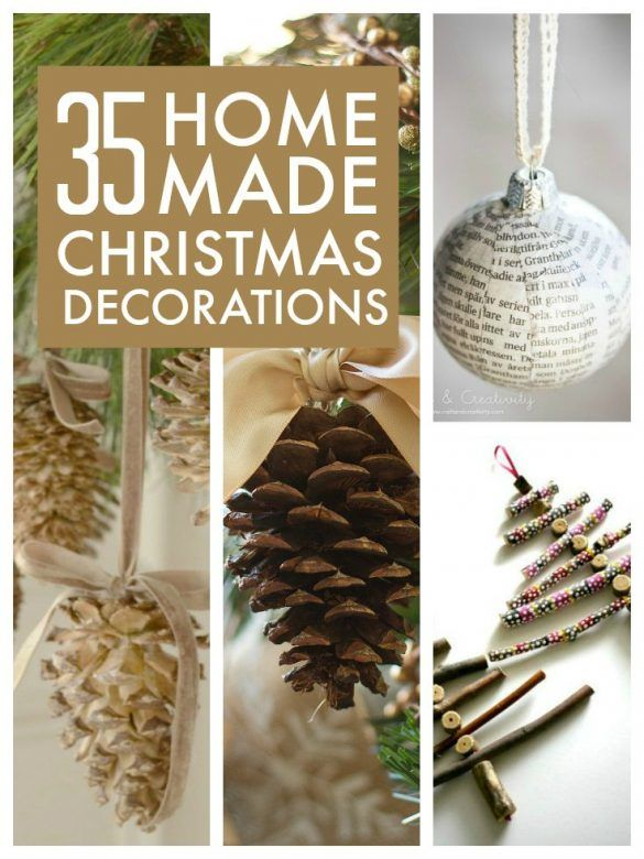 35 easy to make homemade christmas decorations for Christmas decorations ideas to make at home
