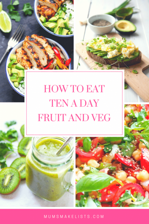 How to eat ten a day fruit and vegetables