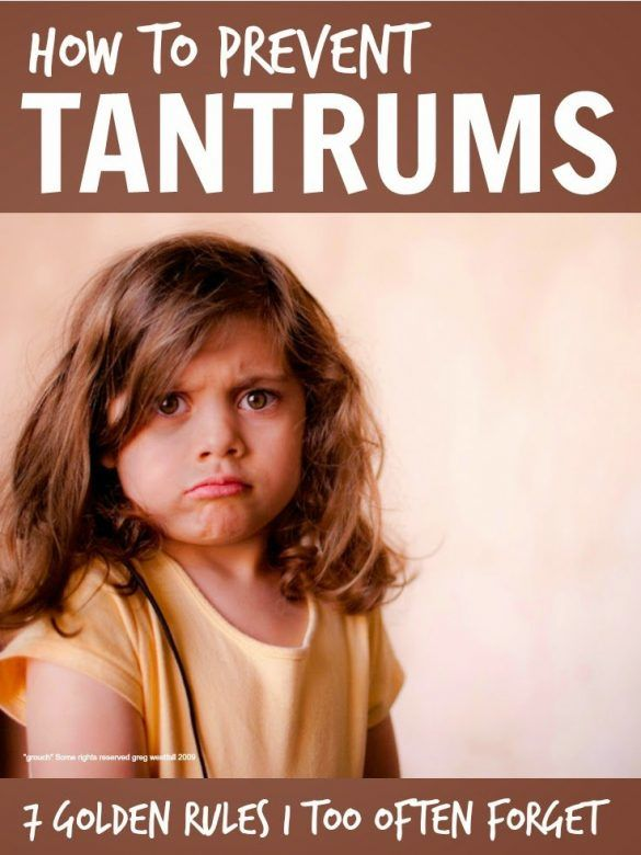 Tantrums - simple golden rules that help to ward off an awful lot of tantrums