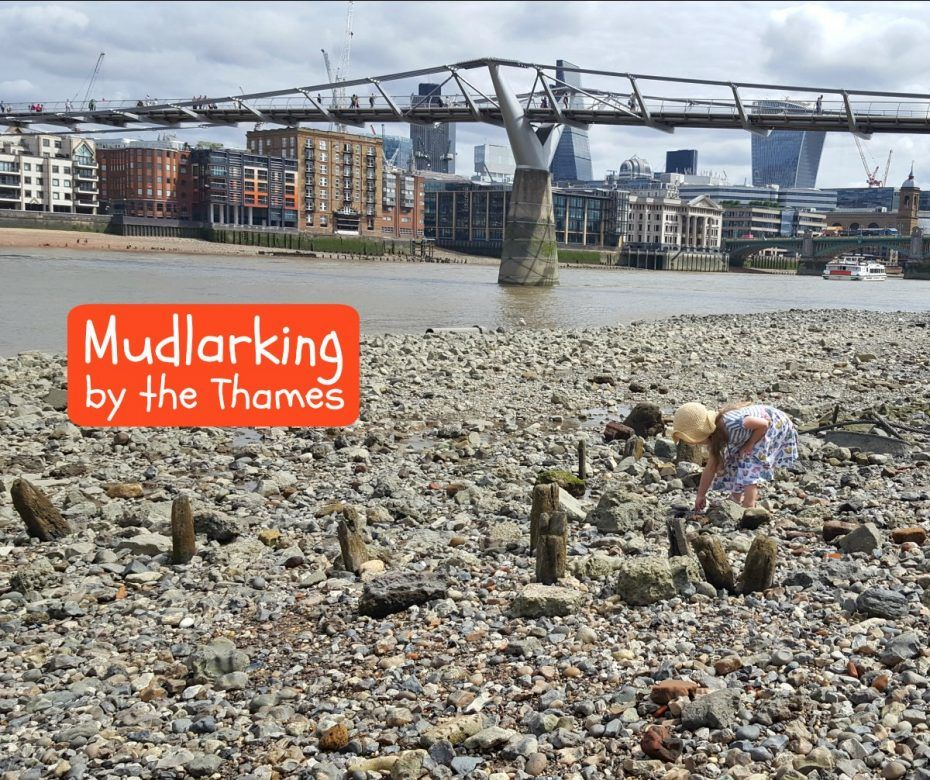 Fun stuff to do with London in Kids - mudlarking by the Thames