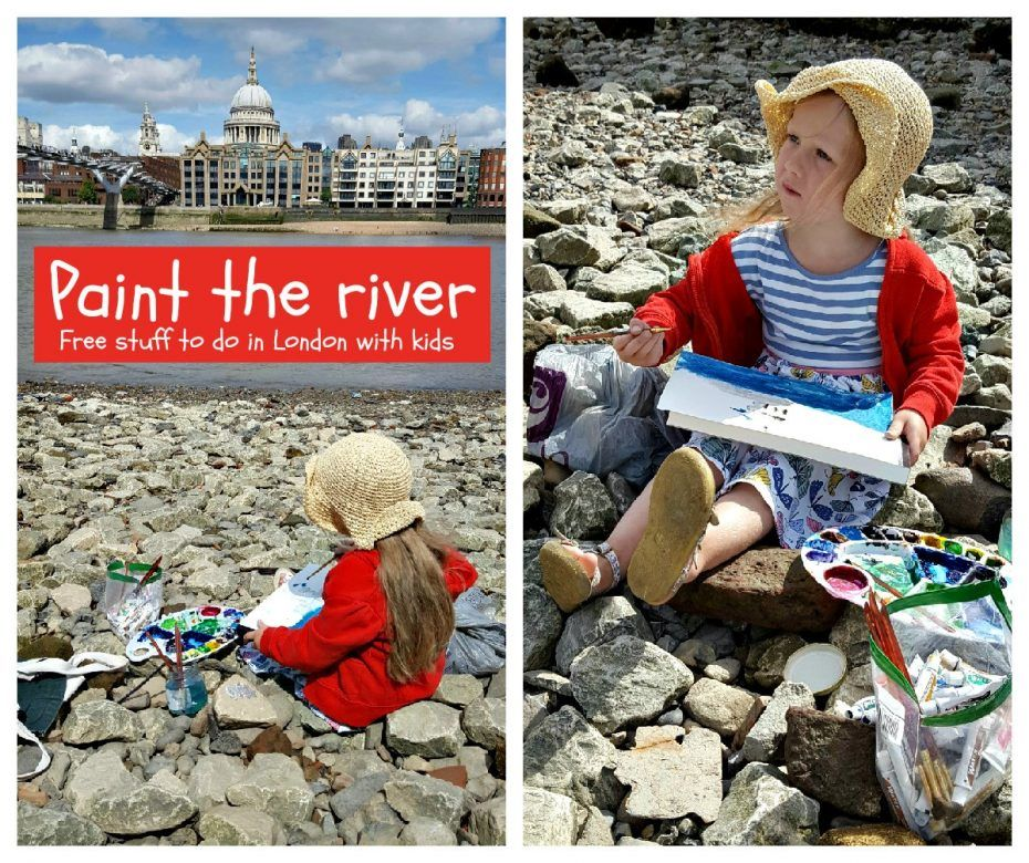 Stuff to do in London with kids ... painting the river